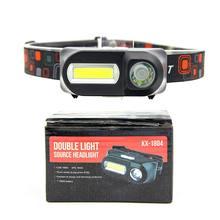 Cob наружный аварийный фонарик 18650 батарея многофункциональное