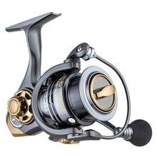 YUYU qualität Metall Angeln reel spinning metall flach spool 2000 3000 5000 6 + 1BB 7.1:1 spinning reel für karpfen angeln
