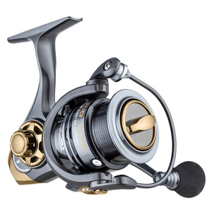 Image 1 - YUYU quality Metal Fishing reel spinning metal shallow spool 2000 3000 5000 6+1BB 7.1:1 spinning reel for carp fishing