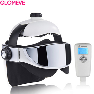 Image 1 - Head Massager Eye Massager 2 in 1 Relieve Stress Promote Sleep Music Massage Helmet Automatic Infrared Pressure Head Massager