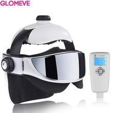 Masajeador de cabeza 2 en 1 para aliviar el estrés, casco de masaje musical para el sueño, masajeador de cabeza de presión infrarroja automático