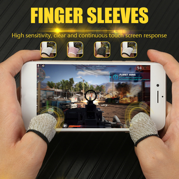 Sweat Proof Gaming Thumb Sleeve Hot Sale Finger Sleeves Simple Enduring 1 Pair Breathable Game Controller Finger Cover image