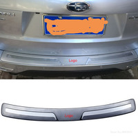 AITWATT For Subaru Forester 2009 2012 Stainless Steel Outer Inner Rear Bumper Protector Cover Sill Plate Trim Cover Car Styling