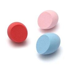 1 ud. De maquillaje liso esponja para base de maquillaje de Color aleatorio licuadora mezcla Puff polvo impecable herramienta de belleza