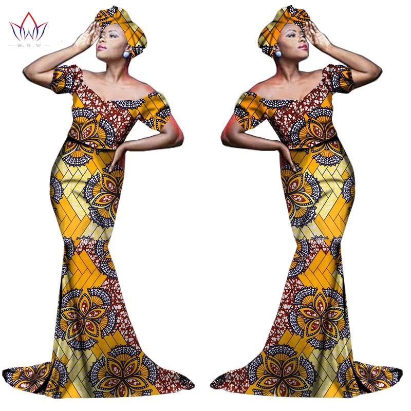 Африканский хлопчатобумажный материал Платья Для Женщин Дашики традиционная Анкара Мода Африка одежда с коротким рукавом Анкара платья WY963 - Цвет: 16