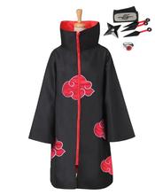 5 шт костюм для косплея Наруто плащ Акацуки Саске Учиха накидка