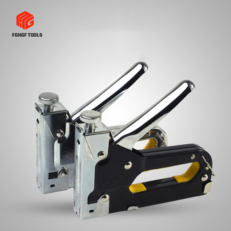 FGHGF 3 In 1 Manual Operation Hit Nail Directly Rivet Gun Hand Riveters For Frame With StaplesNails Carpentry Woodworking Tools