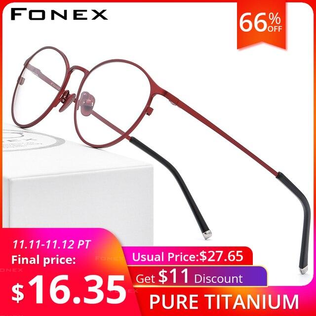 กรอบแว่นตา Titanium กรอบแว่นตา Vintage Vintage รอบแว่นตา Classic ออพติคอลยี่ห้อ Designer กรอบแว่นตาผู้หญิง 8501