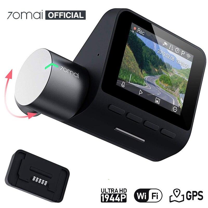 Xiaomi 70mai Dash Cam Pro English Voice Control 1944P 70MAI Car DVR Camera GPS ADAS 140FOV Night Vision 24H Parking Monitor
