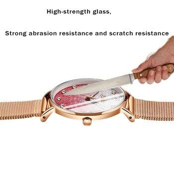 цены SUNKTA Womens Watches Top Brand Luxury Waterproof Watch Fashion Ladies Stainless Steel Ultra-Thin Casual Wristwatch Quartz Clock