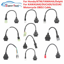 OBD2 Connector Universal K CAN For Motorbike 6Pin to 16Pin Adapter Cables For YAMAHA 3Pin For Honda 4Pin For KTM 6 Pin For Ducat