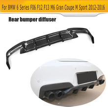 6 Series carbon fiber rear diffuser for BMW F06 F12 F13 M6 M sport bumper 2012 - 2016 Convertible 640i 650i for bmw m6 carbon mirror cover m series m6 f06 f12 f13 carbon fiber rear side view caps mirror cover add on style styling 2012