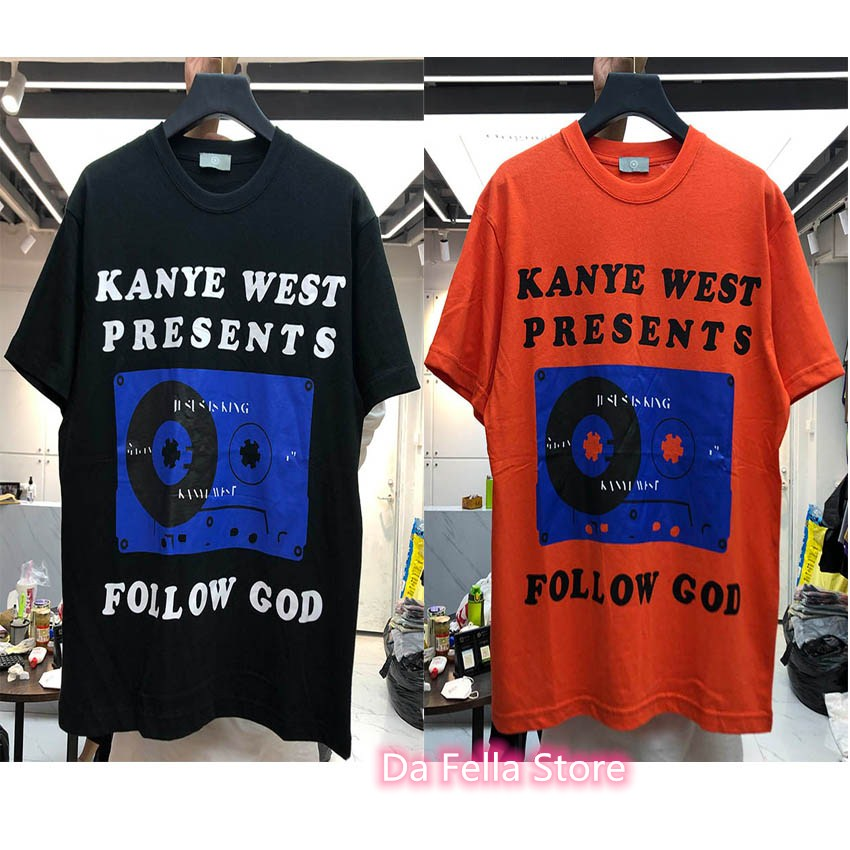 2020SS New Kanye West Presents Tee Men Women <font><b>FOLLOW</b></font> GOD T-shirt Hip Hop CHRIST LIKE Kanye West T-shirts Jesus is king <font><b>Tops</b></font> image