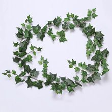 1.8m Long Simulation Ivy Air Conditioner Heating Pipe Shade Green Vine Wedding Plant Wall Green Vine(China)