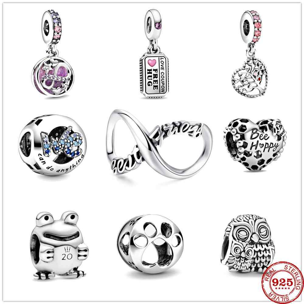 2020 new we can do anything love coupon bee happy infinity hearts dangle  beads fit original pandora charms silver 925 bracelet