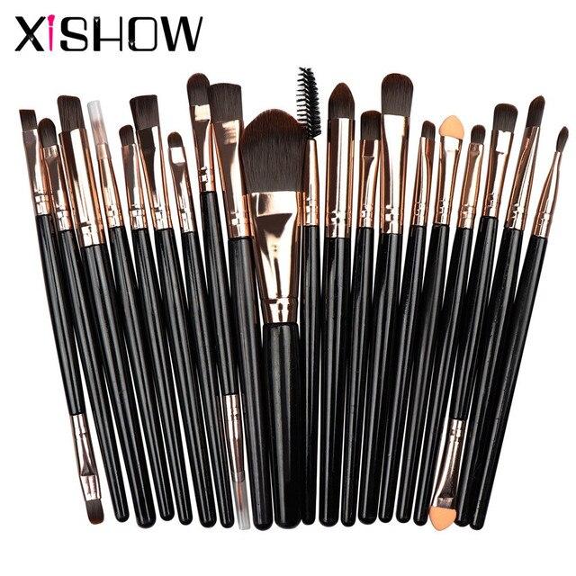 Ensemble de pinceaux de maquillage professionnel fards à paupières poudre fond de teint brosse femmes cosmétiques Xishow 20 pièces maquillage brosse trousse doutils de beauté
