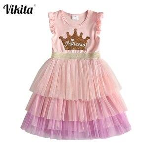 VIKITA girls princess birthday dress kids tutu dress for girls