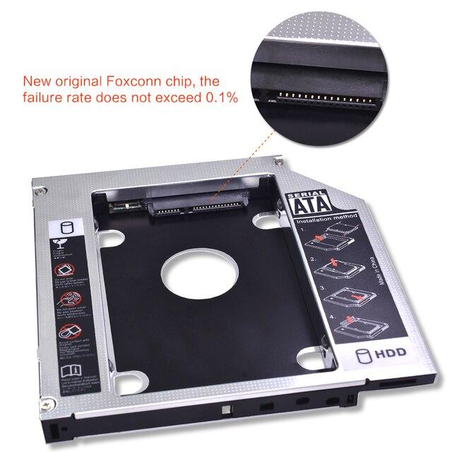 TISHRIC 2. HDD Caddy 9.5mm/12.7mm Optibay SATA 3.0 obudowa HDD/obudowa Adapter DVD HDD dysk twardy do 2.5 SSD 2TB do laptopa