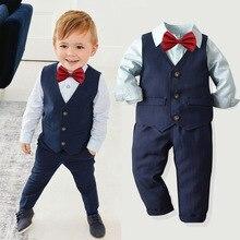 Kids Blazer Toddler Boy Suits Set Formal School Sui