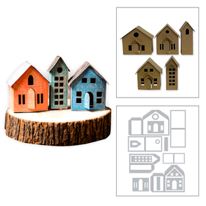 2020 New 3D Handmade House Metal Cutting Dies and Christmas DIY Die Cut Scrapbooking For Crafts Paper Box Making no Stamps Sets