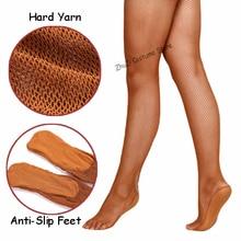 Professional Fishnet Tights Women Latin Dance Dress Ladies Ballroom&Latin Dance Hard Yarn Elastic Latin Stockings Pantyhose