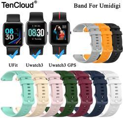 Сменный ремешок для смарт-часов Umidigi UFit, ремешок для смарт-часов Umidigi Uwatch 3 GPS, силиконовый браслет, регулируемый ремешок
