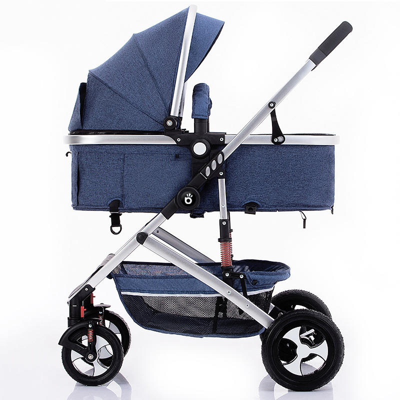 High Landscape Baby Stroller Lightweight Folding Two-way Four-wheel Shock Absorber Baby Stroller Stroller Accessories