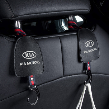 Car Seat Back Storage Hook Vehicle Headrest Organizer Hanger Storage Hook Groceries Bag Handbag For KIA Ceed Cerato RIO R K2 K3