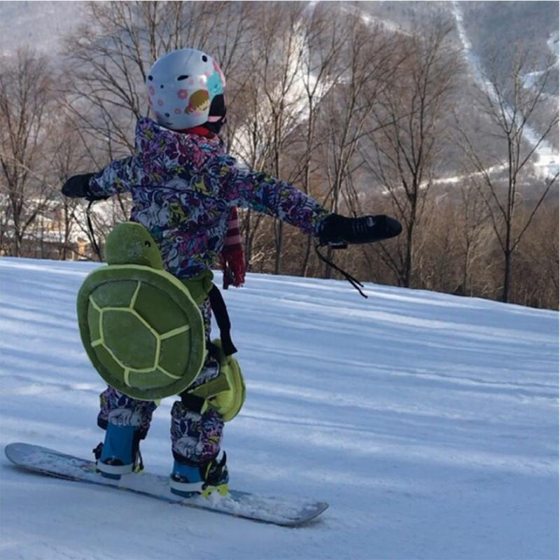 1pc Snowboarding Adult Cute Skiing Knee Pads Tortoise Cushion Winter Outdoor Sports Gift Plush Hip Protective Gear Skating Home