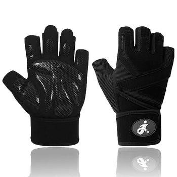 Rękawice treningowe oddychające rękawice do podnoszenia ciężarów na siłownię trening ćwiczenia rękawiczki do ćwiczeń rękawice gimnastyczne podnoszenie ciężarów rękawice treningowe tanie i dobre opinie CN (pochodzenie) Weightlifting Workout Gloves