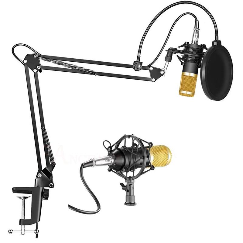 KTV karaoke microfone condensador de estúdio mikrofon BM800 BM 800 computador Gravação do microfone Para Rádio Broadcasting Cantar bm-800