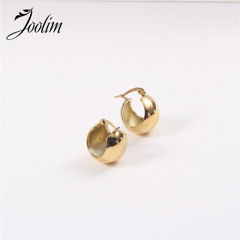 Joolim высококачественные серьги кольца из нержавеющей стали с золотым покрытием|Серьги-подвески|   | АлиЭкспресс
