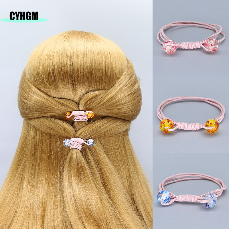 Elastic Hair Bands Pink Hair Ties Scrunchie Opaska Do Wlosow Femme Hair Rubber Band Girls Diademas Women Hair Accessoires F15-1