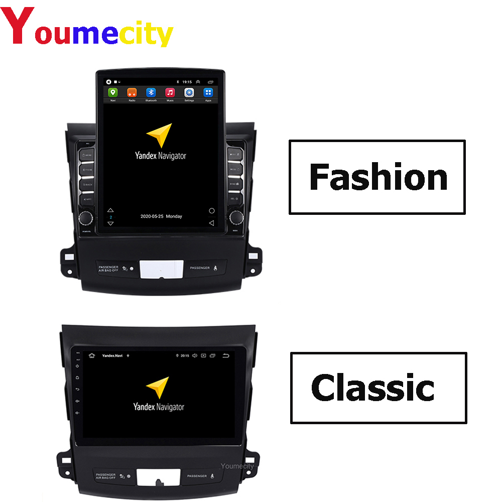Android 9.0 Car DVD GPS Radio for <font><b>Mitsubishi</b></font> <font><b>Outlander</b></font> 2007-2013 Peugeot 4007 Citroen C-Crosser radio video Multimedia player image