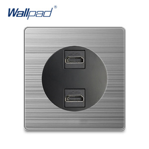 Wallpad 2 HDMI Wall Power Sock