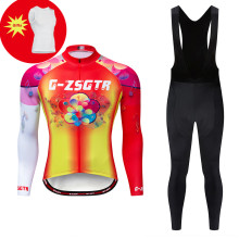 Winter Thermal Fleece Cycling Jersey Long Sleeve MTB Bicycle Bike Clothes Cycling Clothing Set Maillot Ropa Ciclismo Invierno цена 2017