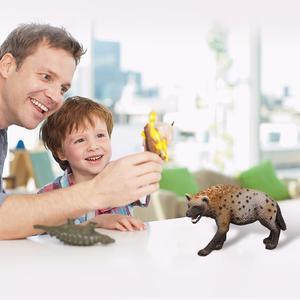 Image 2 - Figura en PVC de Animal salvaje de 3,4 pulgadas, modelo de Hiena, juguete preescolar para niños, 14735