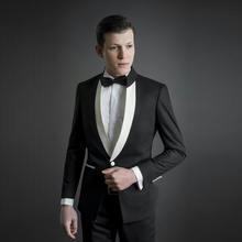2 шт мужские свадебные костюмы с воротником стойкой и двумя