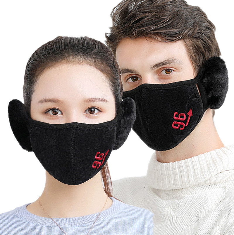 New Warm Breathable Lengthened Mouth Mask Protect Ears Mask Protection Cycling Windproof Anti-Dust Mouth Face Mask
