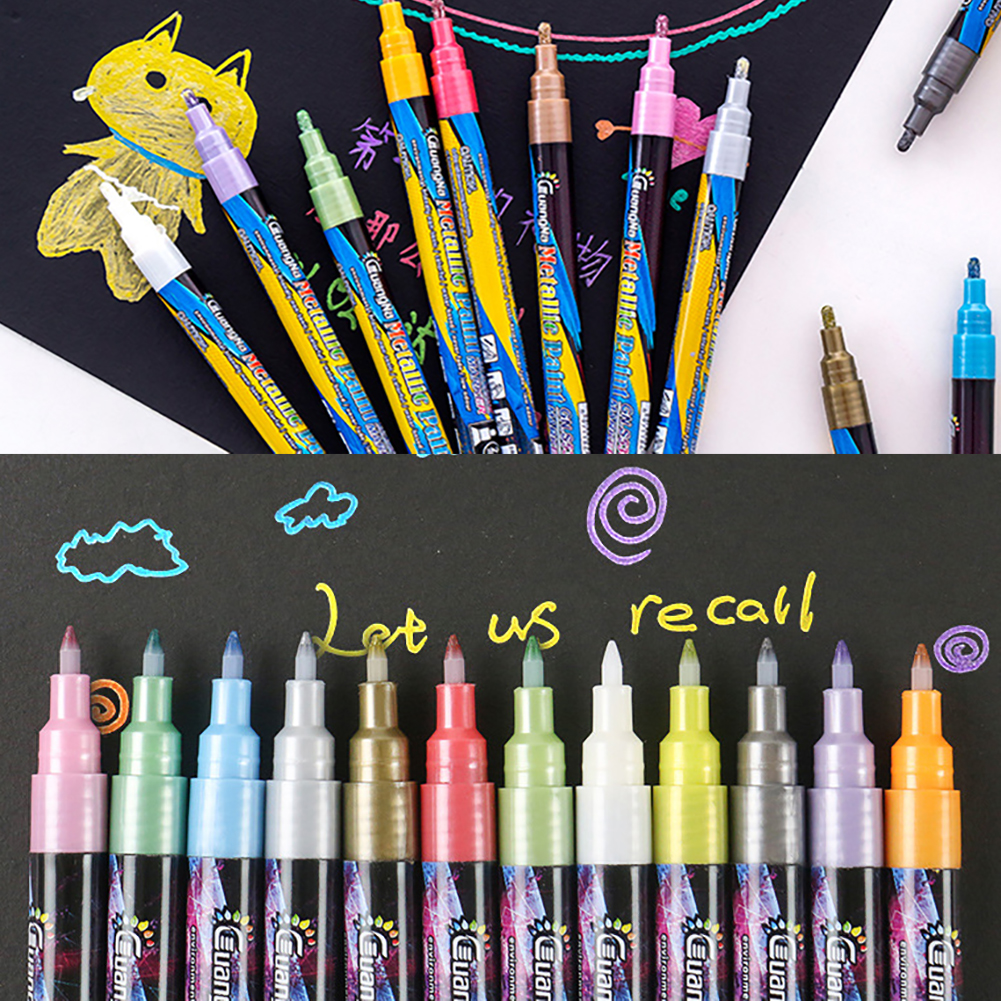 18 cores metalico marcador canetas 07mm extra 04