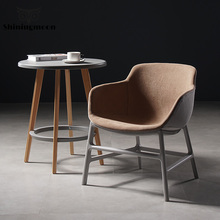 Modern Casual Single Small Sofa Chair Study Bedroom Office Chair Dining Room Chairs Restaurant Suitable Louis Chair Armchair