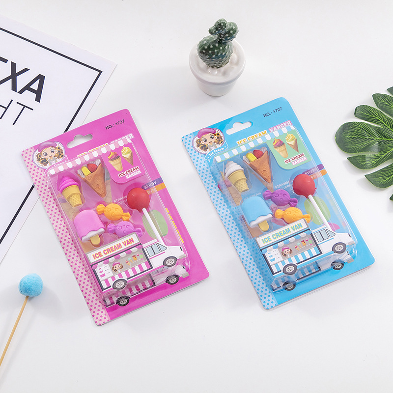 Cute Food Candy Eraser Rubber Eraser Primary School Student Bts Promotional Gift Stationery Tools School Supplies Rubber For Pen