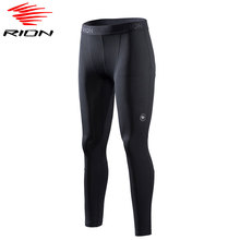 RION Mens Sports Running Tights Gym Compression Pants Workout Fitness Training Tights Leggings Sportswear Jogging Tights Male