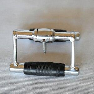 2,5 кг двухрядная V ручка кабельного крепления мульти вращение тренажерный зал тянуть вниз веревка аксессуары Бодибилдинг бицепс Трицепс ру...