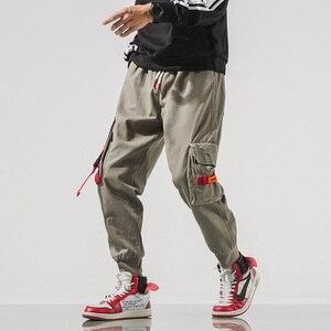 Image 3 - SingleRoad Mens Cargo Pants Men Hip Hop Japanese Streetwear Ribbon Pants Men Mens Trousers Joggers Male Fashion Sweatpants Man