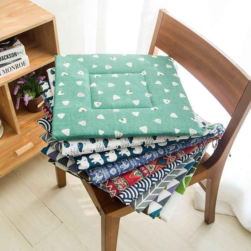Coussin de siège de Style nordique 38*38cm   Coussins de qualité pour chaise à manger, Tatami carré tapis de fessier canapé, oreiller respirant, tabouret coussin