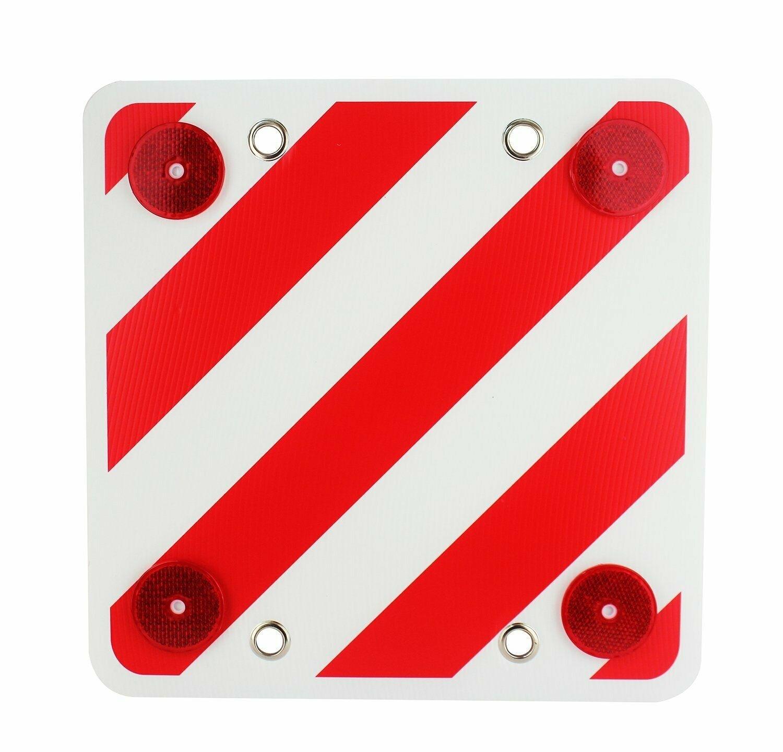 Panel Reflector Trasero Señalización Cargas Cuadrada Visibilidad Noche Carretera