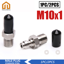 Connector PCP M10x1-Thread 8MM Male-Plug Quick-Coupler Stainless-Steel Paintball High-Pressure