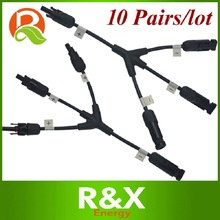 10PCS/lot, MC4 3 to 1 branch solar connector, 3-Y 1x3 with TUV certification.