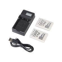 Vendita al dettaglio Per Nikon EN EL5 3.7V 1400mAh Batteria 2 + Display LCD USB Cavo del Caricatore + USB